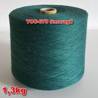 670 Smaragd TVU Ocean Nm 30/2  Baumwolle Acryl Strickgarn Häkelgarn Garn Kone