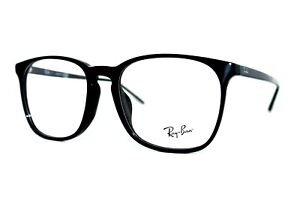NEW RAY-BAN RB 5387F 2000 BLACK AUTHENTIC EYEGLASSES FRAMES 54MM RX W/CASE