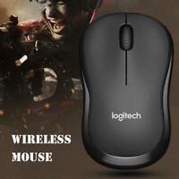 Logitech 2.4GHz Wireless USB Nano Receiver 1000 DPI Optical Game Mouse Mice PC
