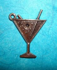Pendant Martini Glass Charm Bartender Charm Cocktail Olives Charm Drink Charm