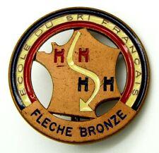 Spilla Ecole Du Ski Francais - Fleche Bronze (Bertoni Milano) Diametro cm 3,8