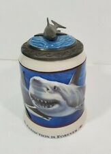 Great White Shark Stein 3D Anheuser Busch & Sea World Extinction is Forever 1994