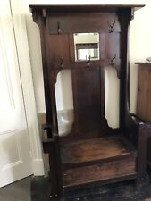 Antique Hall Stand With Shoe Storage And Seat