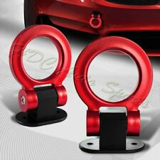 Universal Car SUV Red Ring Track Racing Style Tow Hook Look Decoration JDM