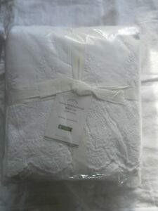 NEW AUTH POTTERY BARN RYLAN EMBROIDERED CAL KING SHEET SET 200 THREAD COUNT 1(
