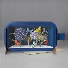 Message In A Bottle 3D Pop Up Greeting Card - Butterflies