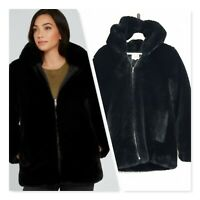 [ SEED HERITAGE ] Womens Faux Fur Hooded Coat / Jacket  | Size AU 8 or US 4