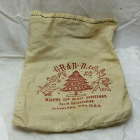 Vintage Cloth Bag Ferro Corporation Cleveland Ohio Famous Fairy Animals Grab Bag