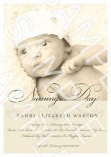 Personalised Photo Christening Naming Day Baptism Invite Invitation