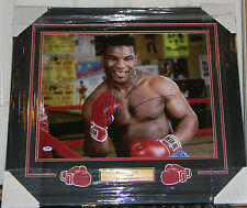 """MIKE TYSON SIGNED PHOTO AUTO 16X20 FRAMED & MATTED PSA DNA COA """"KID DYNAMITE"""""""