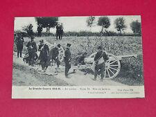 CPA 1915 AU COMBAT NOTRE 75 EN BATTERIE ARTILLERIE GUERRE 14-18 MILITARIA