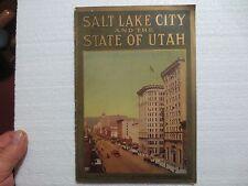 ORIGINAL SALT LAKE CITY AND THE STATE OF UTAH TRAVEL AND HOMESTEAD BROCHURE RARE