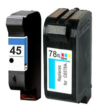 Non-OEM Replaces 45 & 78 Use For HP Photosmart 1115 1215 1215vm Ink Cartridges