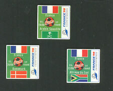 1998 WORLD CUP COCA COLA FRANCE FIRST ROUND MINI SET OF THREE PINS