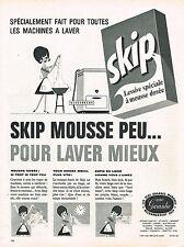 PUBLICITE ADVERTISING   1962   SKIP   lessive