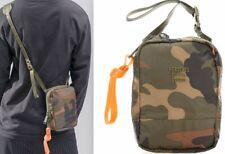 Herschel Supply Studio Ripstop Green Woodland Camo Crossbody Bag HS8 Logo Orange