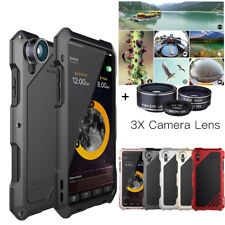 Shockproof Metal Case Camera Lens Hybrid for iPhone X XS Max XR 8 7 6 Waterproof