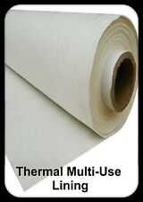 Durable Ivory Thermal Curtain And Roman Blind Lining - Sold per Meter