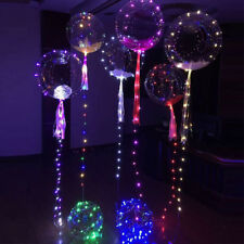 2x Transparent LED String Light Balloon Wedding Birthday Xmas New Year Party UK