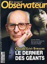 Le Nouvel Observateur   N°2269   1 mai 2008: Claude lévi-strauss