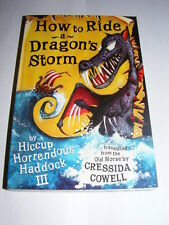 How To Ride & Dragon's Storm by Cressida Cowell PB Train Your Dragon #6 novel