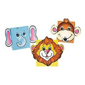 5 x ZOO ANIMAL TREAT BOX JUNGLE ANIMAL PARTY TREAT LOOT FAVOUR CAKE SNACK BOXES
