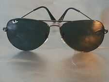 Ray Ban RB3026 Aviator Unisex Sunglasses 62MM Black Frame/ Black Gradient Lens