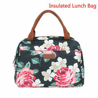 Floral Insulated Lunch Bag Tote Thermal Cooler Picnic Food Box Storage Handbag