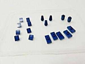 18 x LEGO Dark Blue Small Pieces - wedges, cones, plates & round