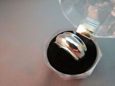 Sterling Silver Hammered Cigar Band Ring Marked 9.25 Size 7.5 Dome 4.8 Grams