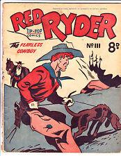 "Red Ryder No 111 1950's -Australian-""Hound Dog Cover ! """