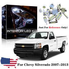 14x White LED Interior Light Kit For 2007-2013 Chevy Silverado & GMC Sierra CS3W