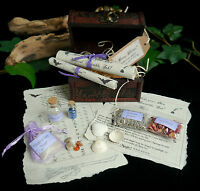 Young Witches Collectors Chest  Wicca Pagan Crystals Potion Bottle Yule Gift