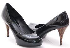 FENDI FF Superstar Patent Leather Logo Concealed Platform Pump Size EU39 US 8.5M