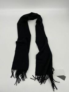 New Stewart Scotland mens scarf black merino wool Q965