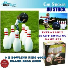 Giant Jumbo Inflatable Bowling Game Set Indoor Outdoor Waterproof Kids Fun Gift