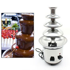 Chocolate Fondue Fountain 4Tier Commercial Stainless Steel Luxury Cheese Melting