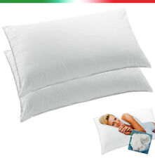 COPPIA Guanciali cuscini da letto federa cotone guanciale 100% made in italy