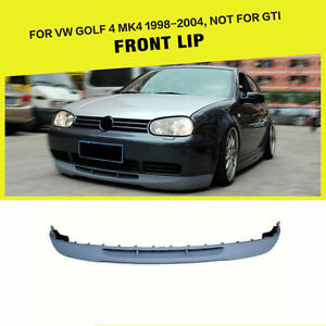 Unpainted PU Front Bumper Lip Spoiler fit for VW Golf 4 MK4 Non-GTI 1998-2004