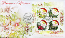 Niue 2017 FDC Christmas Wreaths Bells Flowers Plants 4v M/S Cover Stamps
