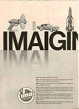 1968 PAPER AD 2 PG IMAI Kagaku Toy Maker Japan Plastic Models Tank Car Rockets