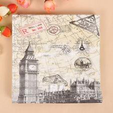 20pcs 33*33cm Food Grade Vintage European Style Paper Napkins,100% Virgin Wood