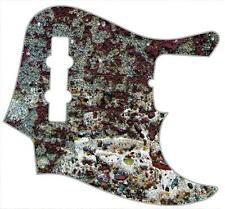 J Bass Pickguard Custom Fender Graphic Graphical Guitar Pick Guard Weathered 1