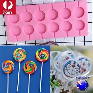 Silicone Round Shape Candy Chocolate Mold Lollipop Making Mold 12 Capacity