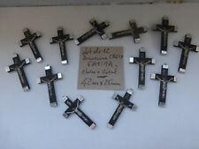 lot de 12 ancienne croix FATIMA en bois et métal  soeur pretre curé OLD crucifix