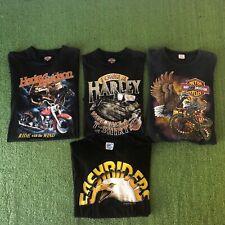 Vintage Harley Davidson T-shirt Lot 3D Emblem Thin Soft Rare 80s 90s Faded Biker