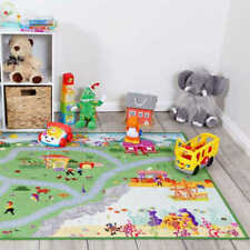 Kids Play Mat ABC ANIMALS 94cm x 133cm Baby Rugs Playmat Activity Floor Mat New