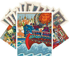 Postcards Pack [24 cards] Russian Fairy Tales Vintage Book Lubok Zvorykin CC1166