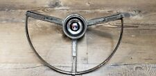 1963 ford Galaxie 500 chrome steering wheel Horn Button Ring OEM fomoco