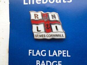 rnli Lifeboat Pin Badge St Ives